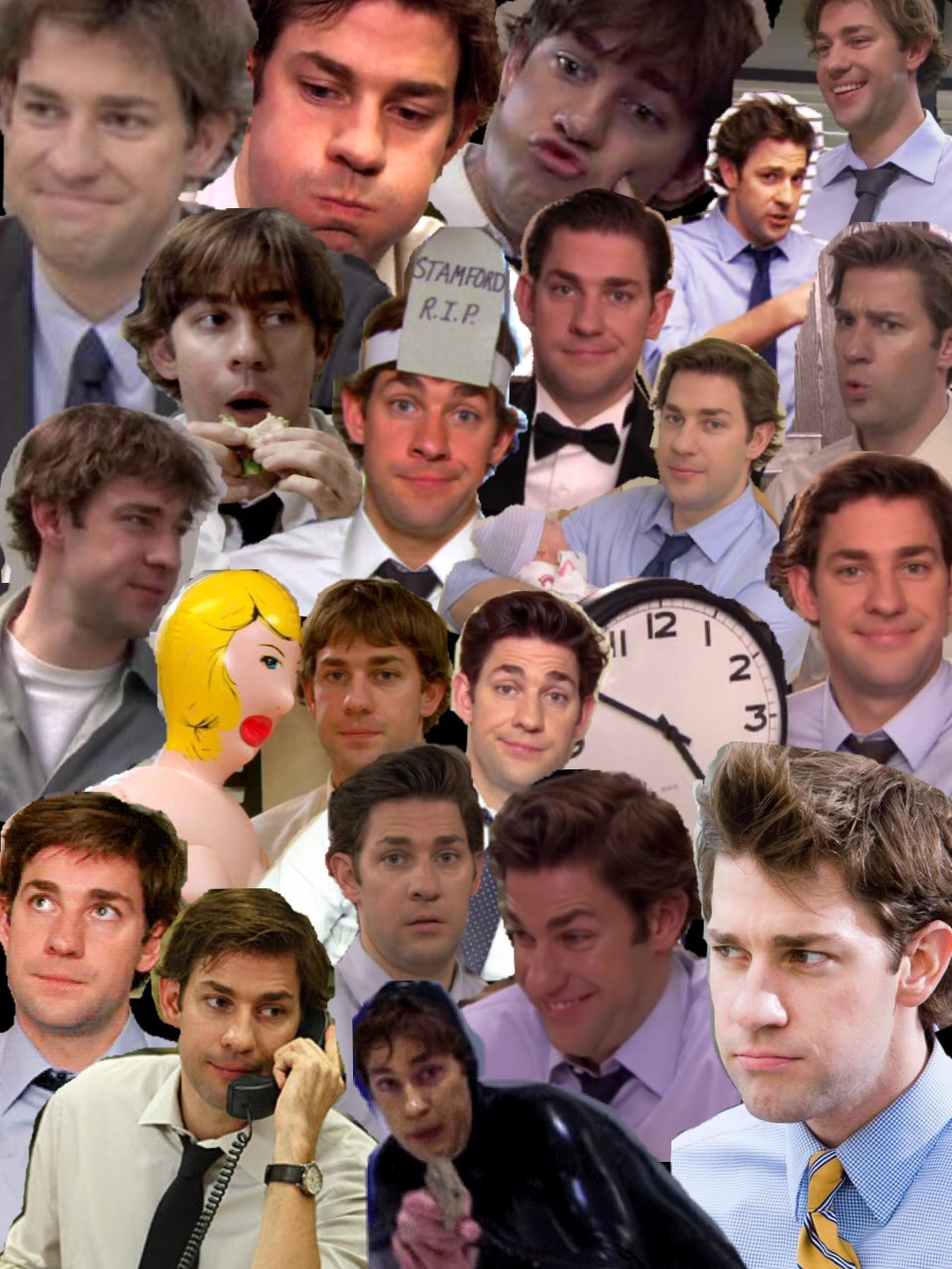 jim halpert collage by me on we heart it