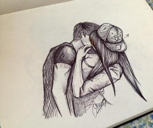 drawing, love, and couple image