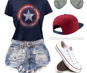 outfit, beautiful, and captain america image