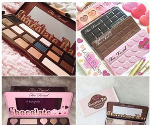 eyebrows, palette, and chocolate image