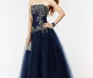 ball gown, gold, and navy image