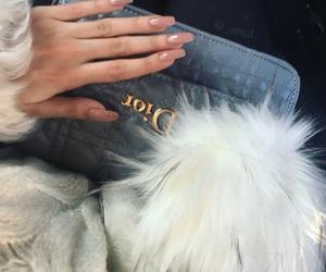 dior, fur, and long nails image