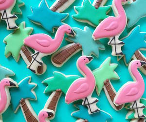 Cookies, colorful, and flamingo image