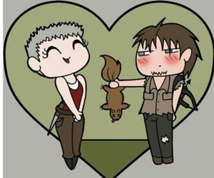 the walking dead and carol and daryl image
