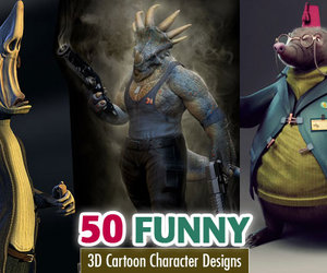 3d characters, funny cartoon characters, and funny characters image