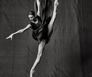 ballet, photo, and black and white image