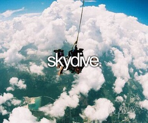 skydive, before i die, and sky image