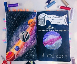 diary and planets image