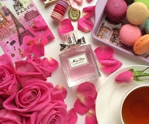 pink, flowers, and miss dior image