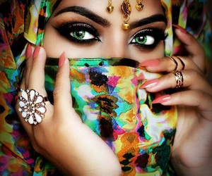 arabic, colorful, and eyes image