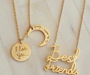 best friends, necklace, and sisters image