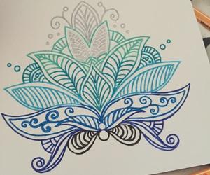 beauty, henna, and mandala image