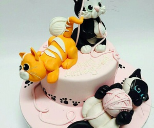 black, cake, and cats image