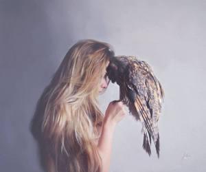 bird, photography, and girl image