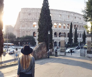 colosseum, girl, and italy image