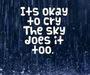 cry, sky, and rain image