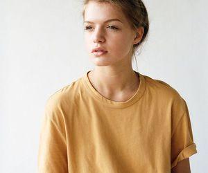 girl, style, and yellow image