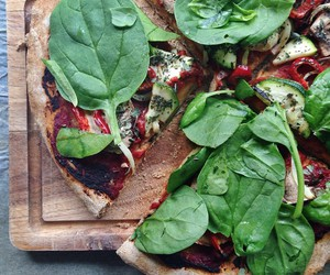 food, pizza, and dinner image