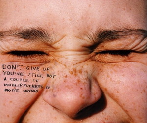 quotes, freckles, and indie image
