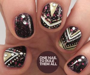 nails, christmas, and dots image