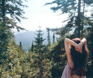 girl, forest, and hipster image