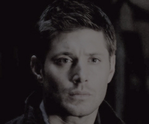 black and white, dean winchester, and supernatural image