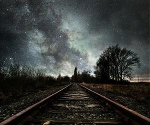 scenery, train, and love image