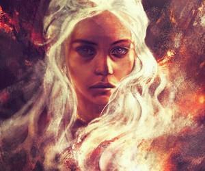 game of thrones, art, and daenerys targaryen image