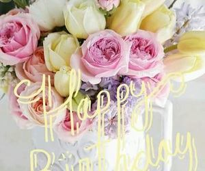flowers, happy birthday, and lovely image