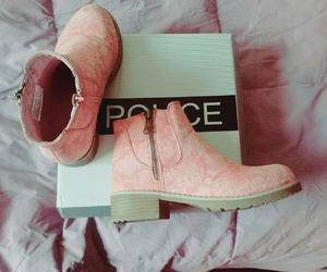 cool, pink, and police image
