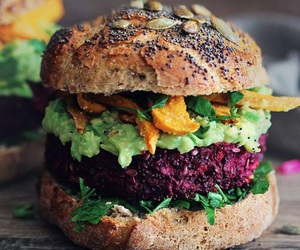 food, burger, and healthy image