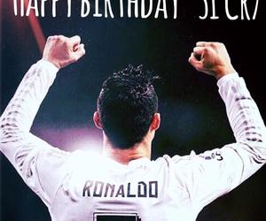 cristiano ronaldo, football, and happy birthday image