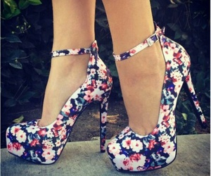 cool, flower, and heels image
