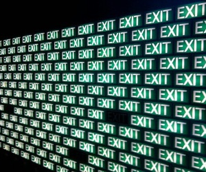 exit, green, and aesthetic image