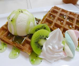 food, kiwi, and ice cream image