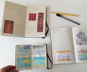diary, jornal, and drawing image