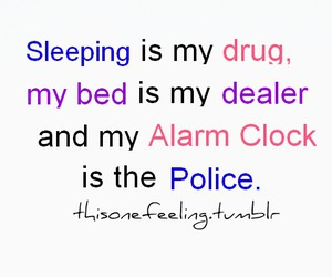 police, bed, and drug image