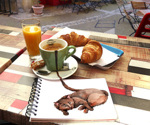 art, breakfast, and drawing image