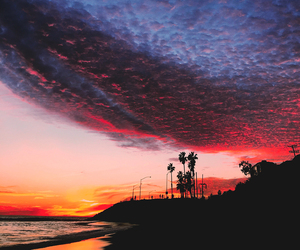 sky, beach, and sunset image