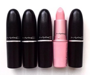 mac, lipstick, and pink image