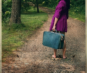 blue, suitcase, and pink image