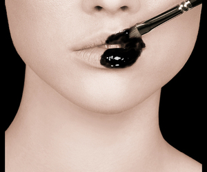 black, girl, and brush image