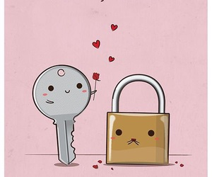 cute, key, and love image