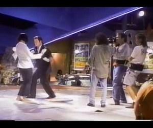 dancing, quentin tarantino, and John Travolta image