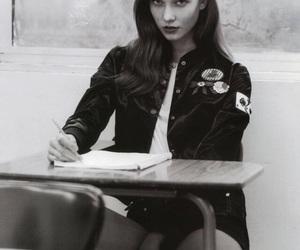 Karlie Kloss, model, and black and white image