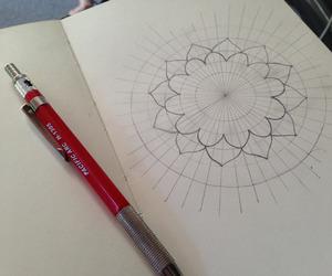 drawing, mandala, and sketch image
