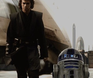 Anakin Skywalker, r2d2, and star wars image