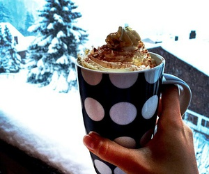 hotchocolate, ski, and winter image