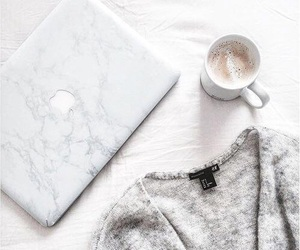 coffee, apple, and white image