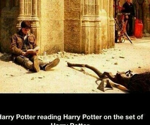 harry potter, book, and funny image